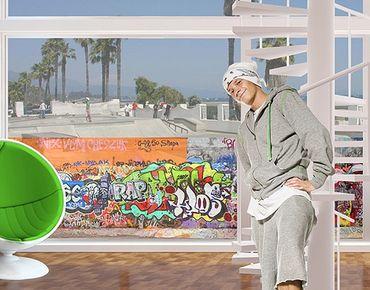 Decorazione per finestre Graffiti