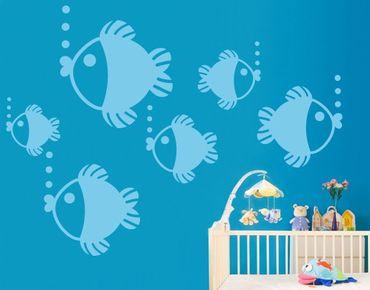 Adesivo murale No.UL433 Baby Fishes Set
