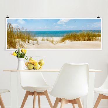 Poster - Spiaggia sul Mare del Nord - Panorama formato orizzontale