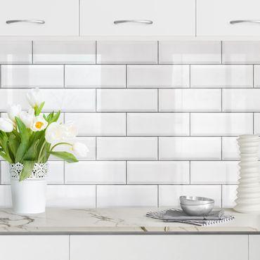 Rivestimento cucina - Mattonelle in ceramica bianche