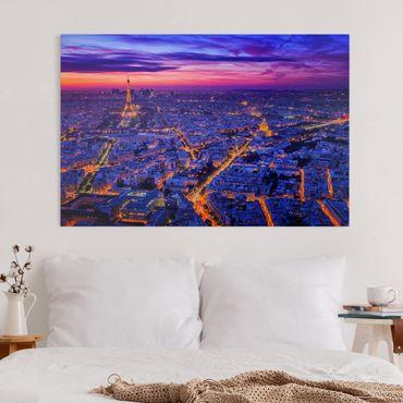 Stampa su tela - Parigi di notte - Orizzontale 3:2