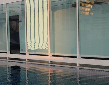 Pellicole per vetri - no.UL469 Venetian Block Stripes