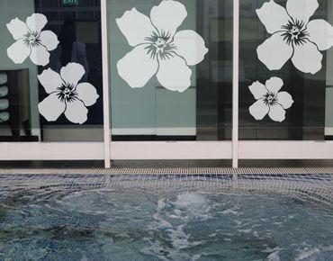 Adesivo per finestre - no.UL476 Hibiscus Flowers