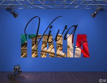 Adesivo murale no.SF798 Viva Italia