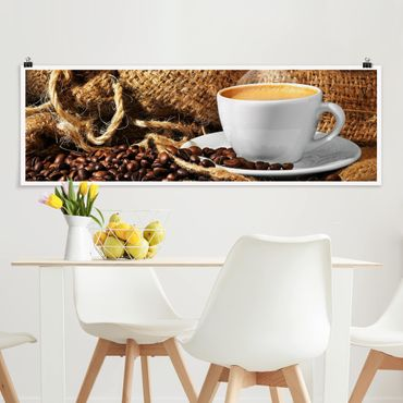 Poster - Morning Coffee - Panorama formato orizzontale