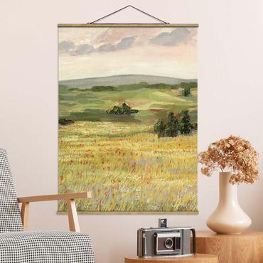 Foto su tessuto da parete con bastone - Prato La mattina mi - Verticale 4:3
