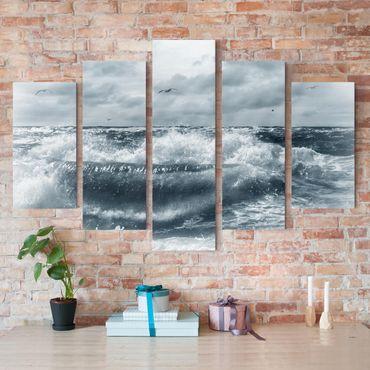 Stampa su tela 5 parti - No.YK6 Living North Sea