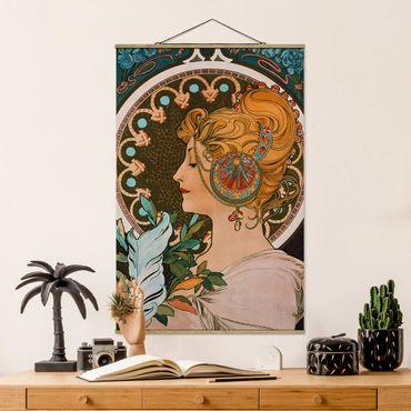 Foto su tessuto da parete con bastone - Alfons Mucha - Primavera - Verticale 3:2