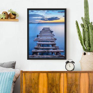 Poster con cornice - Pier Into The Calm Sea - Verticale 4:3