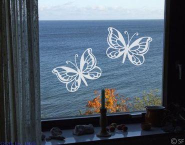 Adesivo per finestre - no.SF869 Butterfly Duo