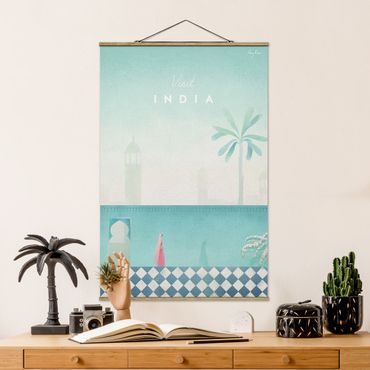 Foto su tessuto da parete con bastone - Viaggi Poster - India - Verticale 3:2