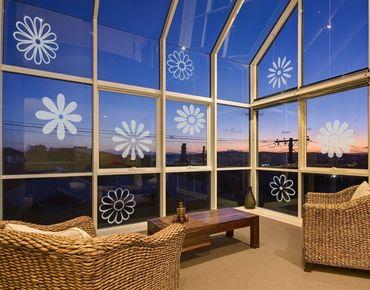 Adesivo per finestre - no.132 Nine Blossoms