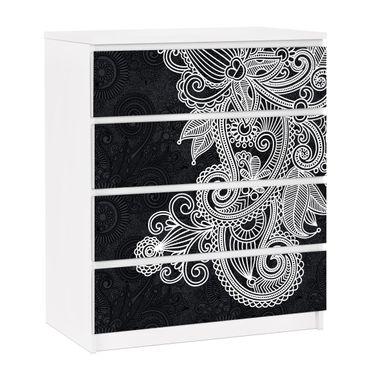 Carta adesiva per mobili IKEA - Malm Cassettiera 4xCassetti - Gothic ornament