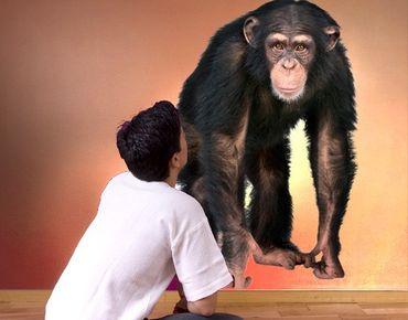 Adesivo murale no.290 Attentive Monkey