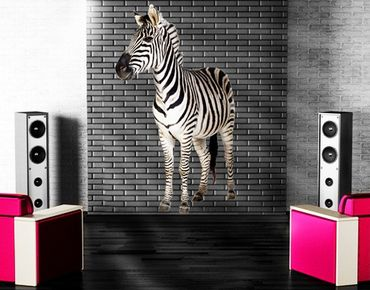 Adesivo murale No.293 Smiling Zebra