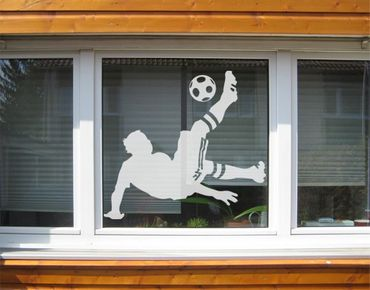 Adesivo per finestre - no.UL6 football - overhead kick