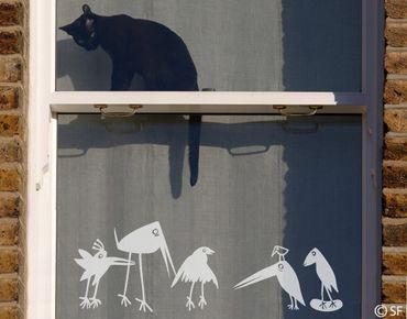 Adesivo per finestre - no.SF927 Funny Birds