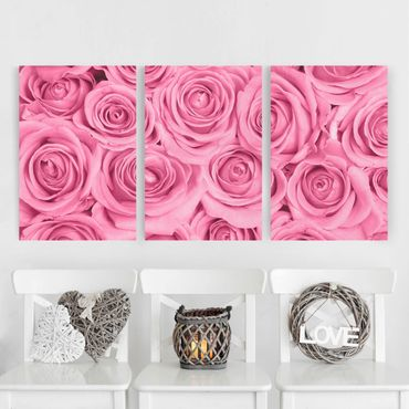 Stampa su tela - Pink Roses - Verticale 2:1