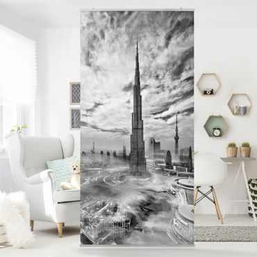 Tenda a pannello - Dubai Super Skyline - 250x120cm