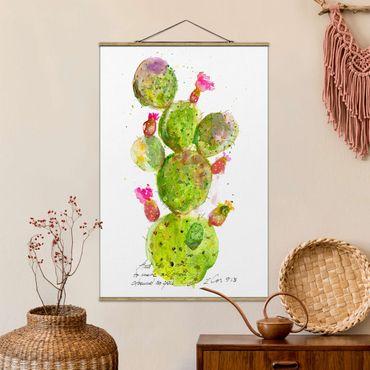 Foto su tessuto da parete con bastone - Cactus Con Versetti della Bibbia III - Verticale 3:2