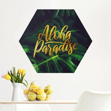 Esagono in Alu-dibond - Jungle - Aloha Paradise