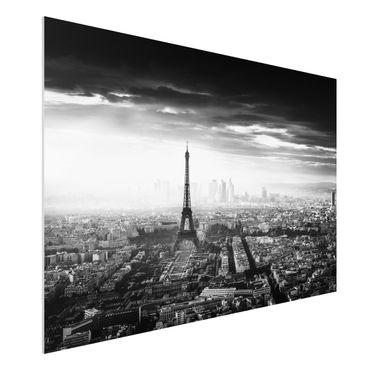 Quadro in forex - La Torre Eiffel From Above Bianco e nero - Orizzontale 3:2