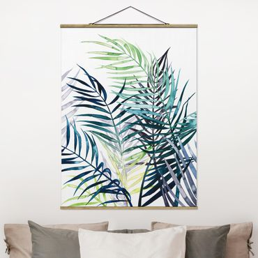 Foto su tessuto da parete con bastone - Exotic Fogliame - Palma - Verticale 4:3