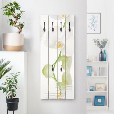 Appendiabiti in legno - Wellness Orchid - Ganci neri - Verticale