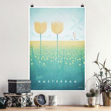 Poster - Poster viaggio - Amsterdam - Verticale 3:2