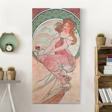Quadri su tela - Alfons Mucha - Quattro arti - Pittura