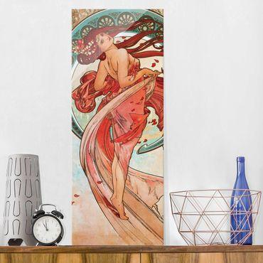 Quadro in vetro - Alfons Mucha - Quattro arti - la danza - Pannello