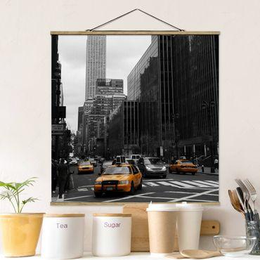 Foto su tessuto da parete con bastone - Classic NYC - Quadrato 1:1