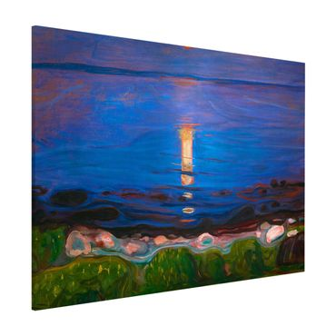 Lavagna magnetica - Edvard Munch - Summer Night On The Sea Beach - Formato orizzontale 3:4