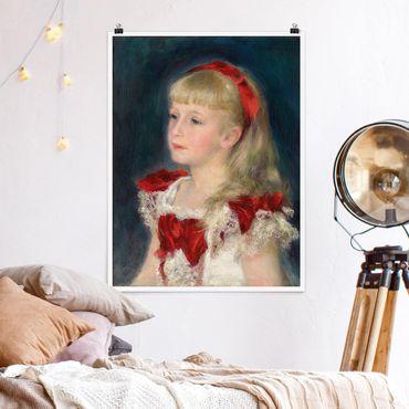 Poster - Auguste Renoir - Mademoiselle Grimprel - Verticale 4:3