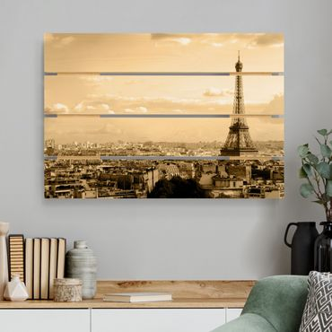 Stampa su legno - I Love Paris - Orizzontale 2:3