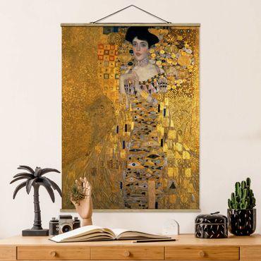 Foto su tessuto da parete con bastone - Gustav Klimt - Ritratto di Adele Bloch-Bauer I - Verticale 4:3