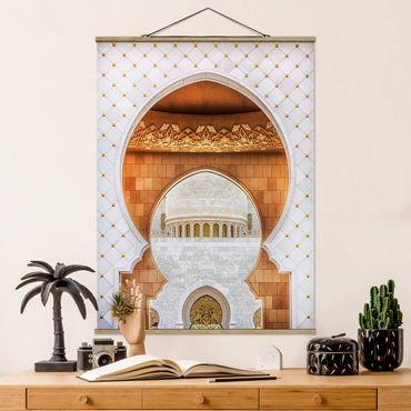 Foto su tessuto da parete con bastone - Porta della Moschea - Verticale 4:3