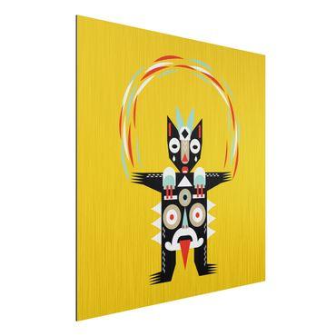 Stampa su alluminio spazzolato - Collage Ethno mostro - Juggler - Quadrato 1:1