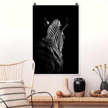 Poster - Scuro silhouette zebra - Verticale 3:2