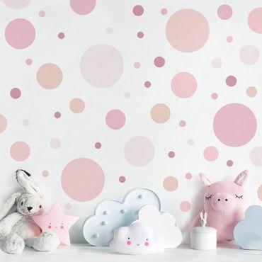 Adesivo murale - Punti Confetti Rosa Set