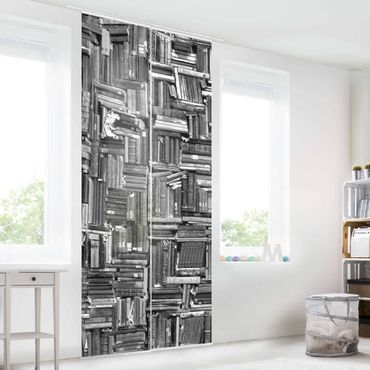 Tende scorrevoli set - Shabby Bookcase White Black