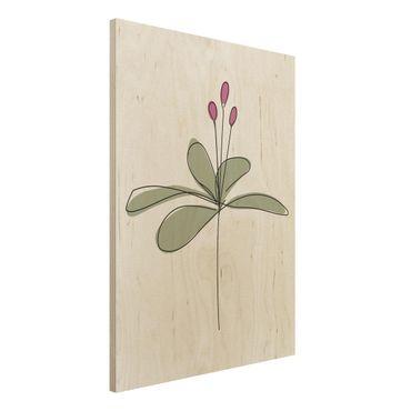 Stampa su legno - Lily Line Art - Verticale 4:3