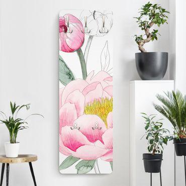 Appendiabiti - Disegno Pink Peony II