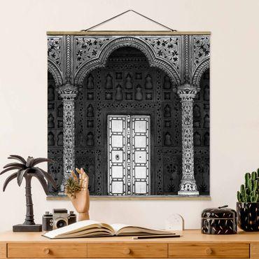 Foto su tessuto da parete con bastone - Porta Bianco - Quadrato 1:1