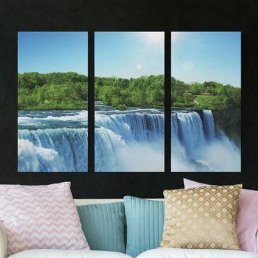 Stampa su tela 3 parti - Waterfall Scenery - Verticale 2:1