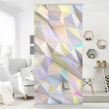 Tenda a pannello - Geometric Pastel Triangles In 3D - 250x120cm