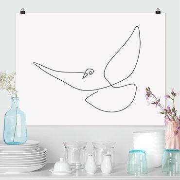 Poster - Dove Line Art - Orizzontale 3:4