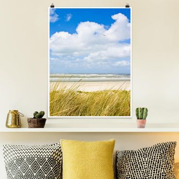 Poster - Sulla costa del Mare del Nord - Verticale 4:3