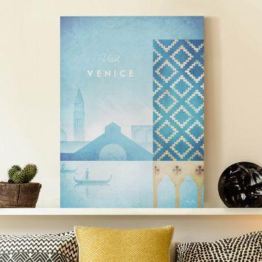 Stampa su tela - Poster viaggio - Venezia - Verticale 4:3
