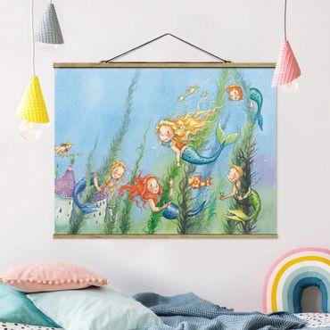 Foto su tessuto da parete con bastone - Matilda La principessa sirena - Orizzontale 3:4